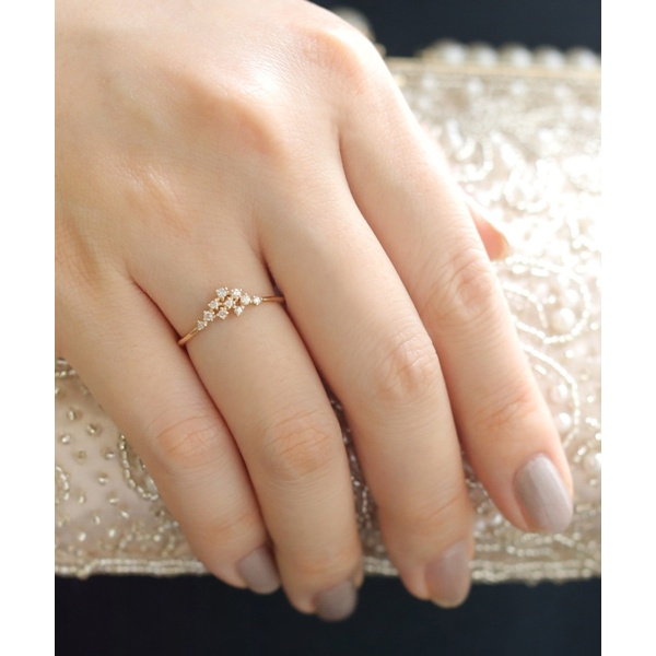 LA RUCHE・10粒ダイヤのリング/シエナロゼ(SIENA ROSE)