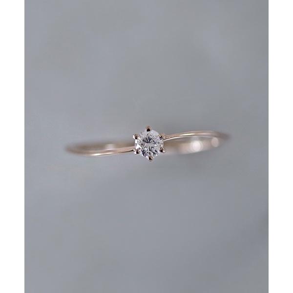 ひねりラインの一粒ダイヤリング[ロゼチナ]/シエナロゼ(SIENA ROSE)