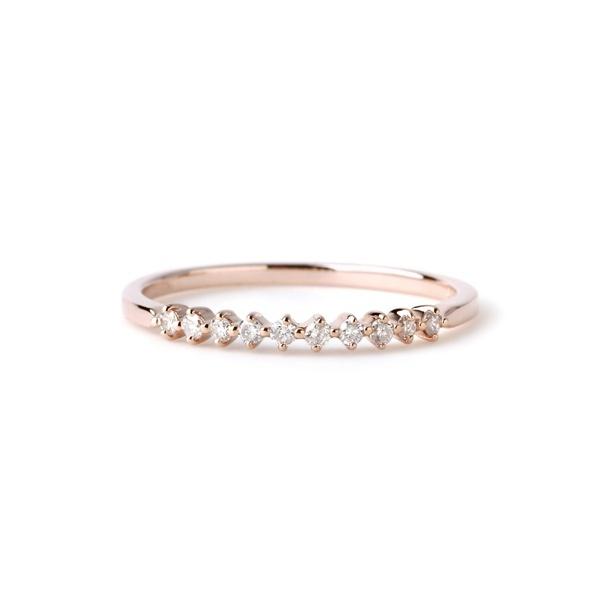 10粒ダイヤラインのリング[ロゼチナ]/シエナロゼ(SIENA ROSE)