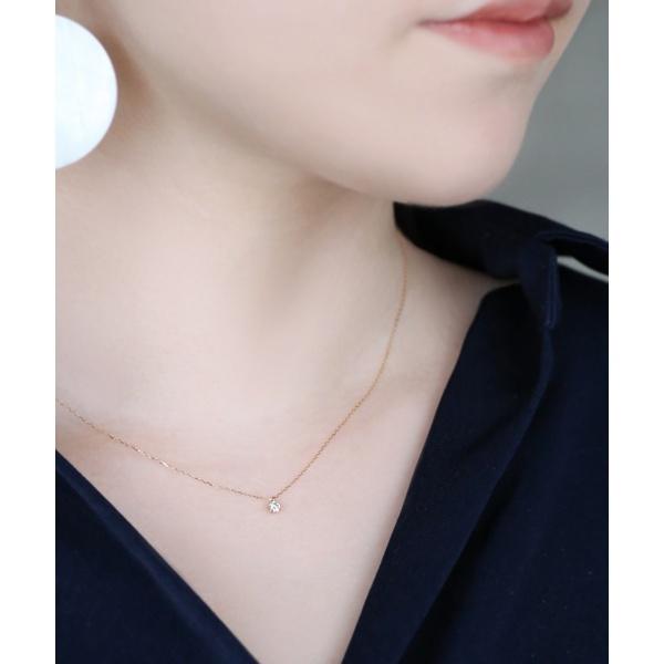 一粒ダイヤモンドのネックレス[0.1ct]/シエナロゼ(SIENA ROSE)