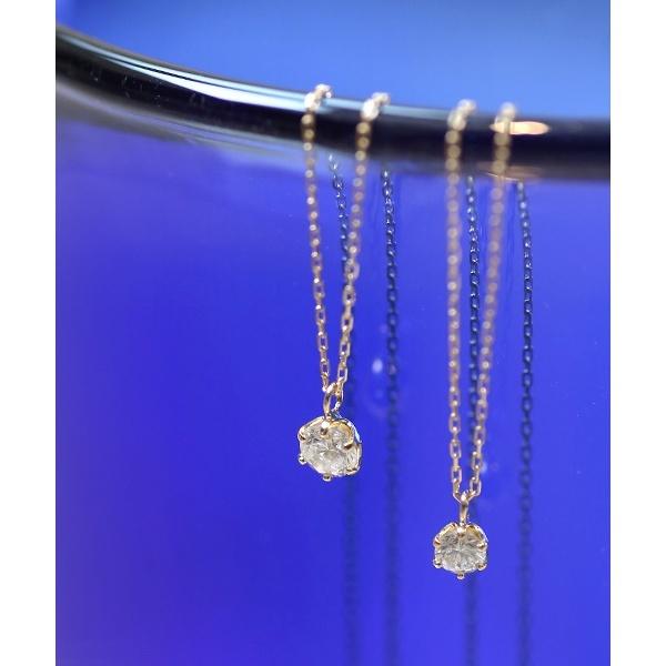 一粒ダイヤモンドのネックレス[0.15ct]/シエナロゼ(SIENA ROSE)