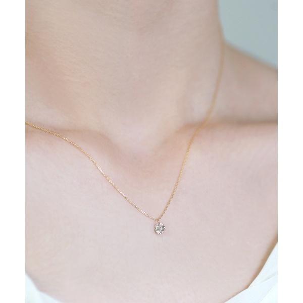 Nudie Diamond・1粒ネックレス[0.3ct]/シエナロゼ(SIENA ROSE)