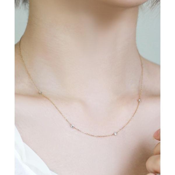 Nudie Diamond・ネックレス[クリア]/シエナロゼ(SIENA ROSE)