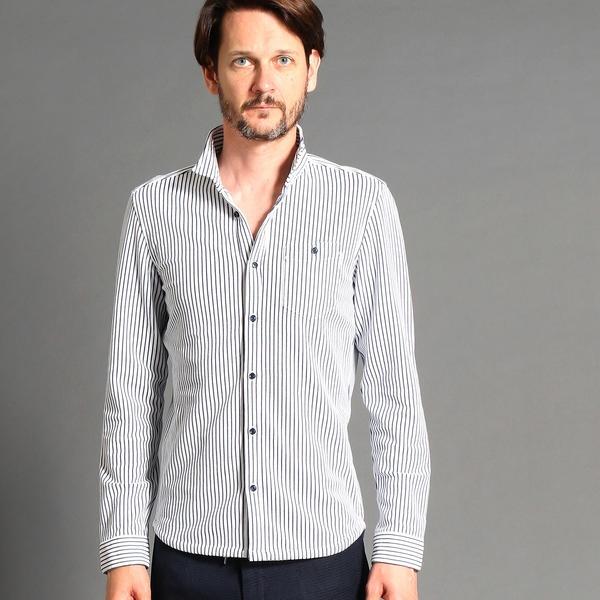 イタリアンカラー長袖カットシャツ/ハイダウェイ(HIDEAWAYS)