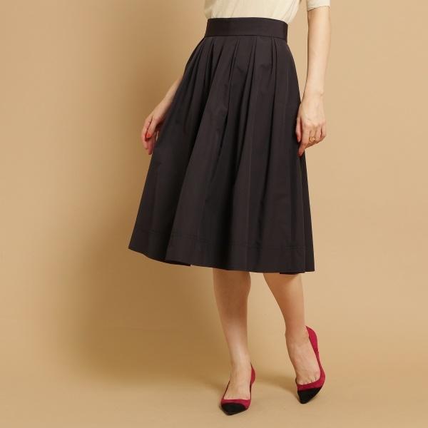 【SS-Lサイズあり】タフタタックギャザースカート/アナトリエ(anatelier)