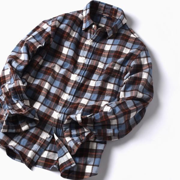 SC: フェザー チェック レギュラーカラー ネルシャツ/シップス(メンズ)(SHIPS)