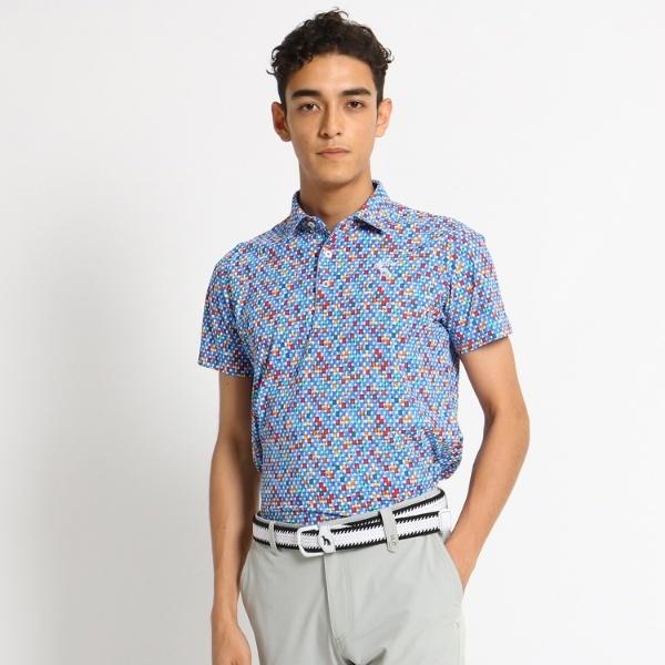 MTシャツ(【UVカット】【吸水速乾】 手書き風ドット柄 半袖ポロシャツ メンズ)/アダバット(メンズ)(adabat(Mens))