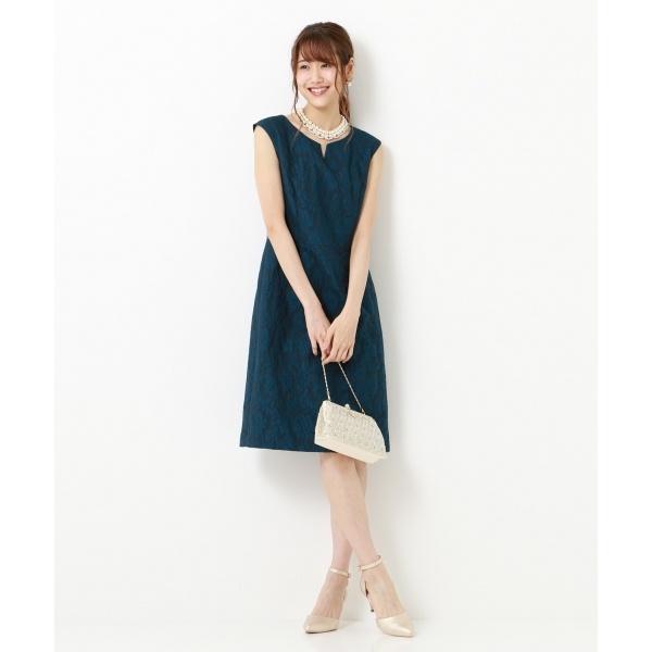 【結婚式やパーティに】レースグランドフラワージャガード ドレス/組曲 L(KUMIKYOKU L)