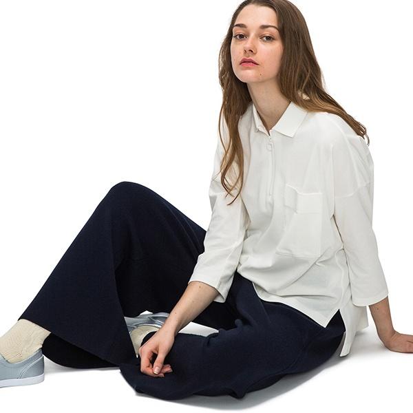 ラコステ ハーフジップビッグポロシャツ(7分袖)/ラコステ(LACOSTE)