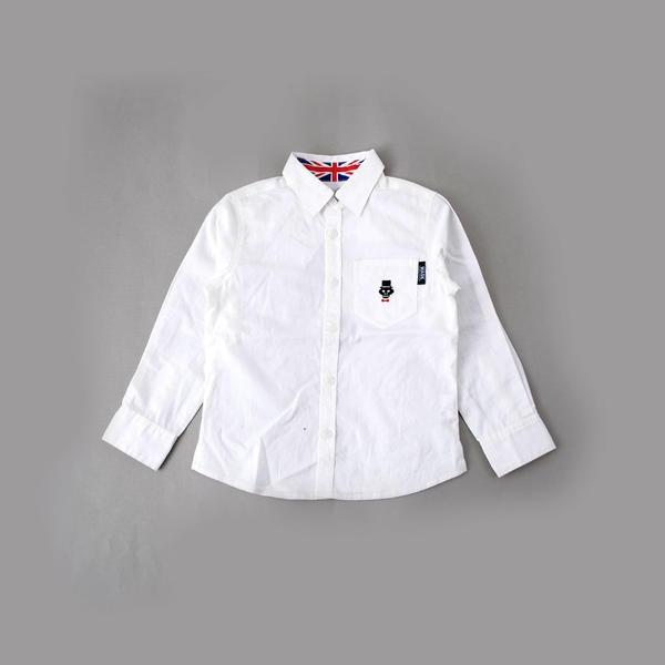 衿裏ユニオンジャックプリントブロードシャツ(140cm~160cm)/ワスク(WASK)