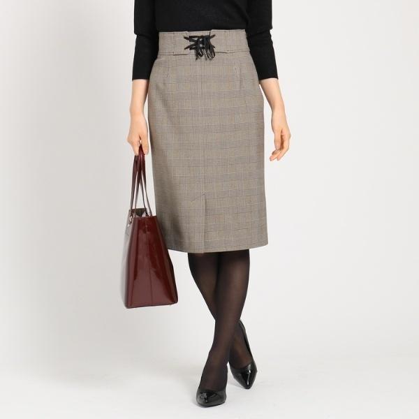 ブレンドグレンレースアップスカート/クード シャンス(COUP DE CHANCE)
