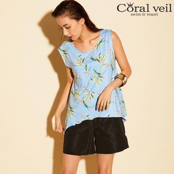 【2018新作】【Coral veil】ボタニカルタンキニ 4点セット水着 9号/11号/13号/アイ(水着)(Ai)