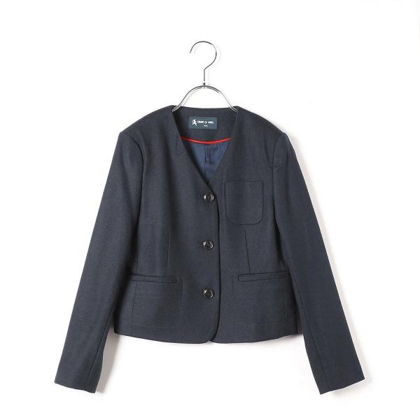 ノーカラー3つ釦女児ジャケット/コムサフィユ(COMME CA FILLE)