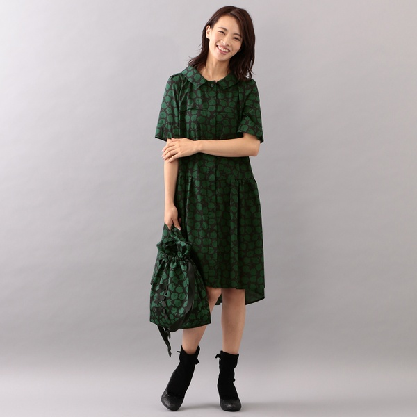 【WEB限定】【Tricolore】ボンボンフラワープリントドレス/トゥービーシック(TO BE CHIC)