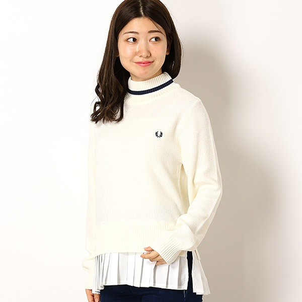 【18AW】SINGLE TIPPED SWEATER/フレッドペリー(レディス)(FRED PERRY)