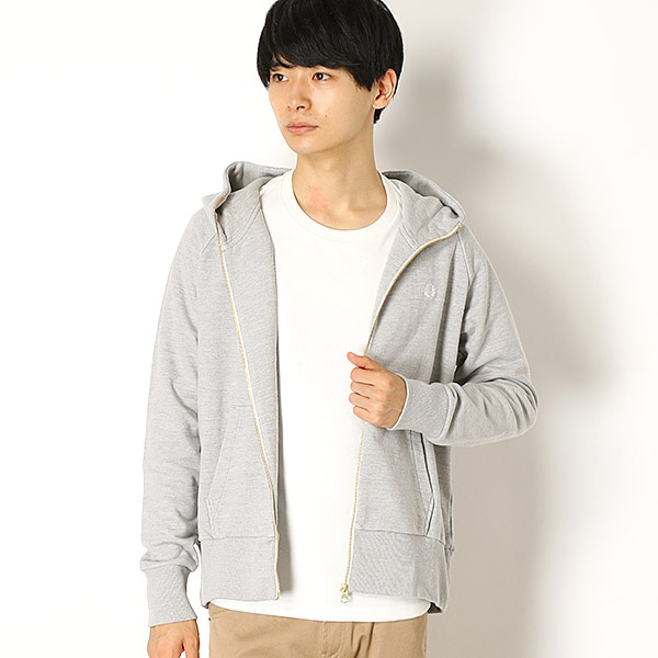 【18AW】LOOPBACK HOODED SWEAT/フレッドペリー(メンズ)(FRED PERRY)