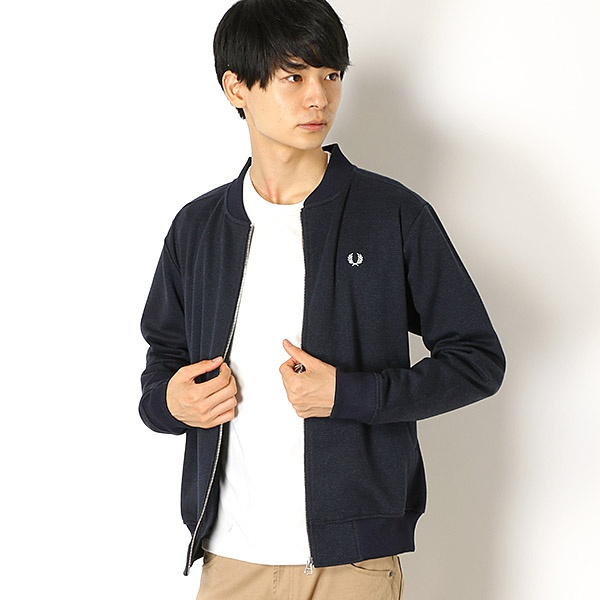 【18AW】BOMBER TRACK JACKET/フレッドペリー(メンズ)(FRED PERRY)