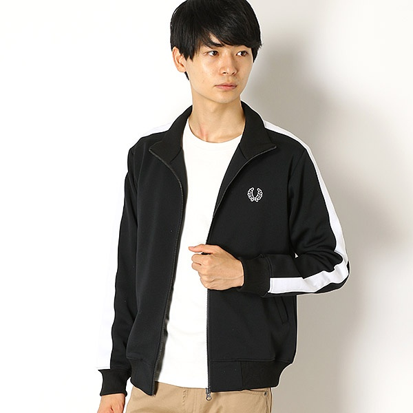 【18AW】TAPED TRACK JACKET/フレッドペリー(メンズ)(FRED PERRY)