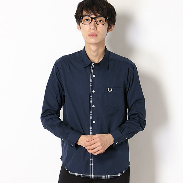 【18AW】LAYERED SHIRT/フレッドペリー(メンズ)(FRED PERRY)