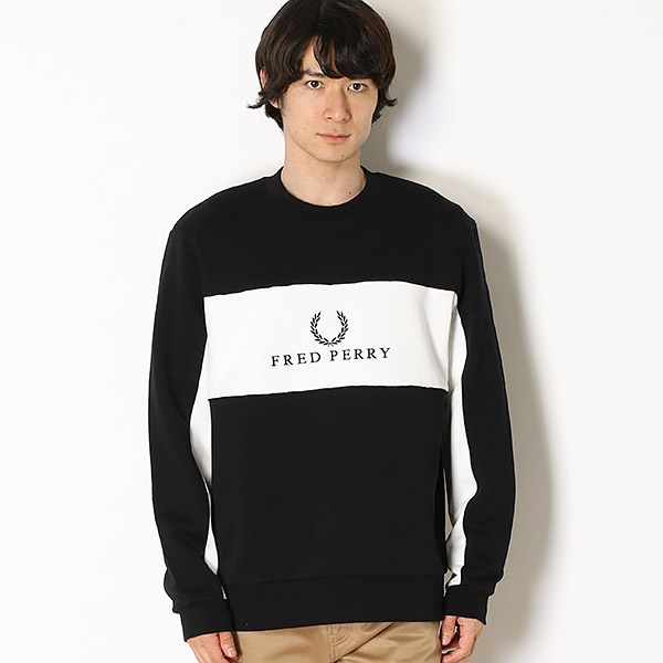 【18AW】PANEL PIPED SWEATSHIRT/フレッドペリー(メンズ)(FRED PERRY)