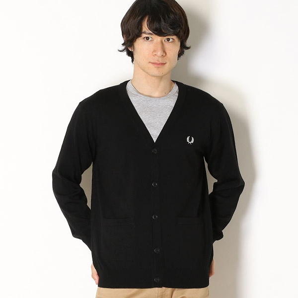 【18AW】V-NECK CARDIGAN/フレッドペリー(メンズ)(FRED PERRY)