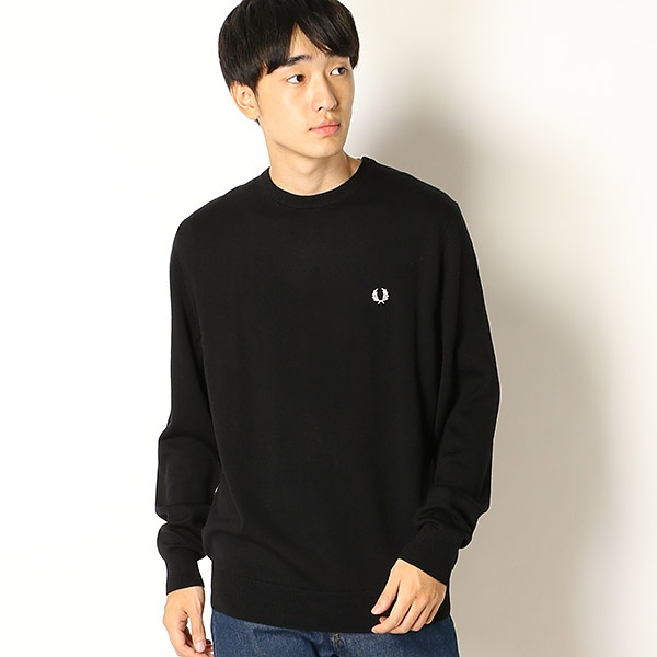 【18AW】CLASSIC CREW NECK SWEATER/フレッドペリー(メンズ)(FRED PERRY)