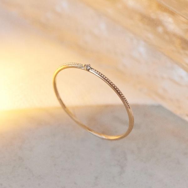 【K10】グリッターダイヤモンドリング/フィービィー(phoebe)