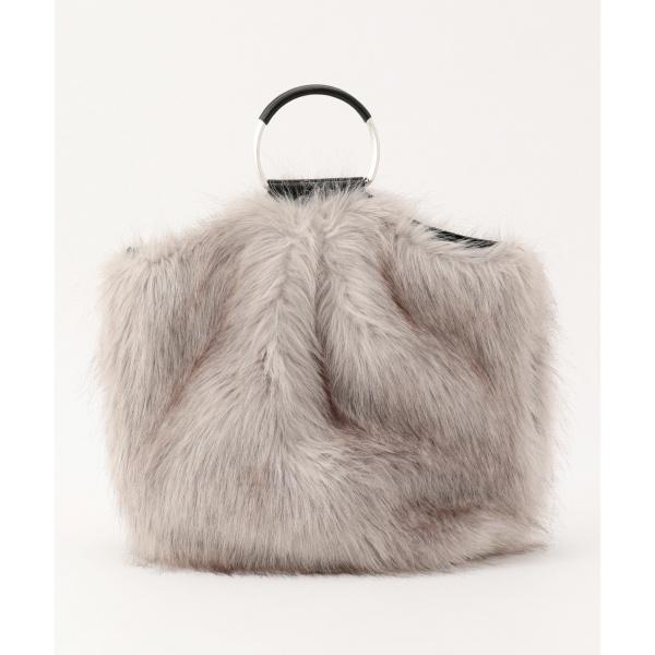 【3パターンで使用可能】Eco Fur トートバッグ/アイシービー(ICB)