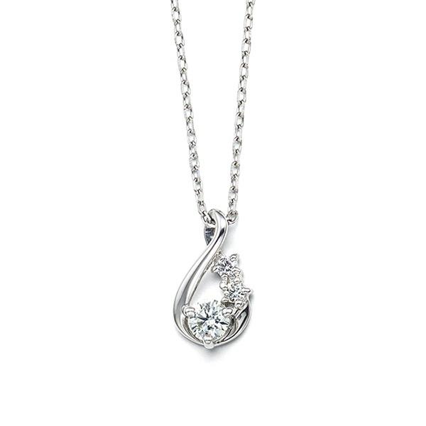 プラチナ ダイヤモンド しずくモチーフ ネックレス/ブルーム(BLOOM)
