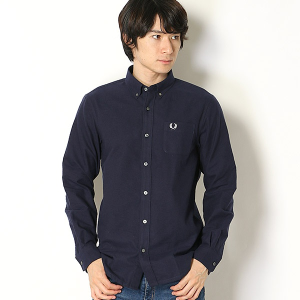 【18AW】BRUSHED WOVEN SHIRT/フレッドペリー(メンズ)(FRED PERRY)