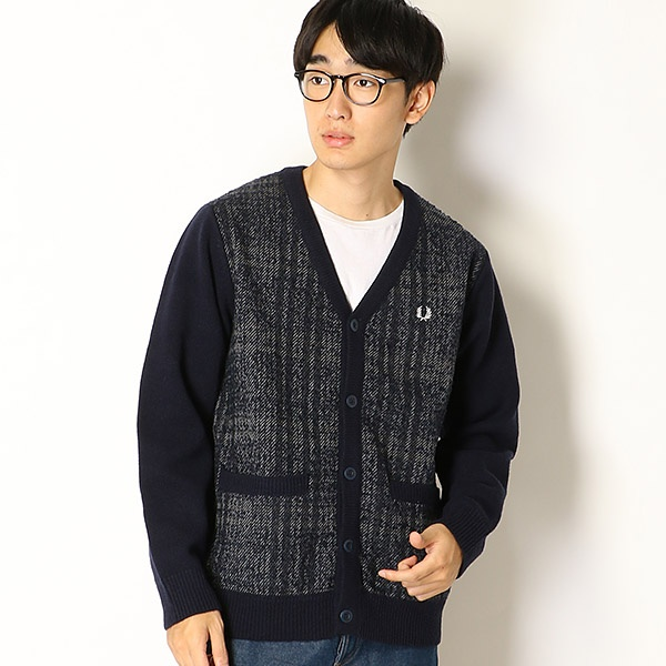 【18AW】MIX PERRY) PANEL CARDIGAN/フレッドペリー(メンズ)(FRED【18AW】MIX PERRY), SOHO本舗:635919f8 --- officewill.xsrv.jp