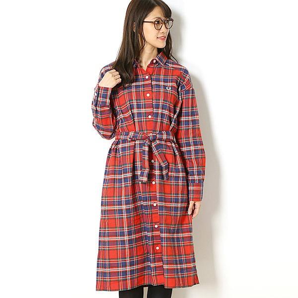 【18AW】TARTAN SHIRT DRESS/フレッドペリー(レディス)(FRED PERRY)