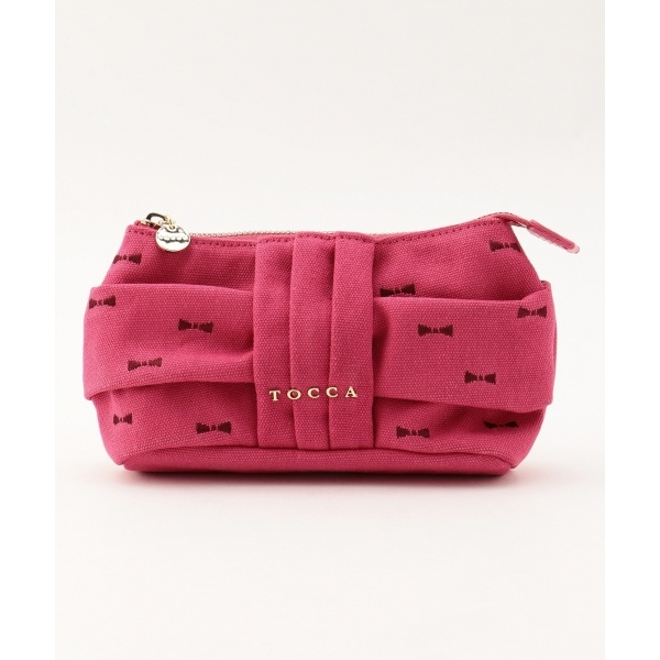 【WEB限定カラー有】RIBBON EMBROIDERY POUCH ポーチ/トッカ(TOCCA)