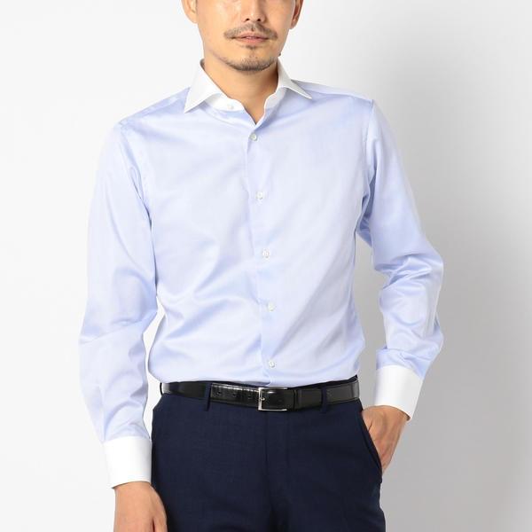 SD: 【ALBINI社製生地】 クレリック ホリゾンタルカラーシャツ(ライトブルー)/シップス(メンズ)(SHIPS)
