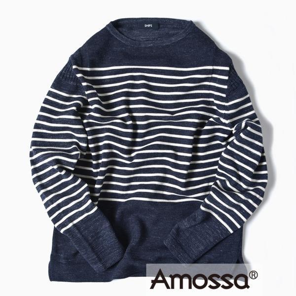 SC: コットン/ウール AMOSSA(R) ボートネック ニット/シップス(メンズ)(SHIPS)