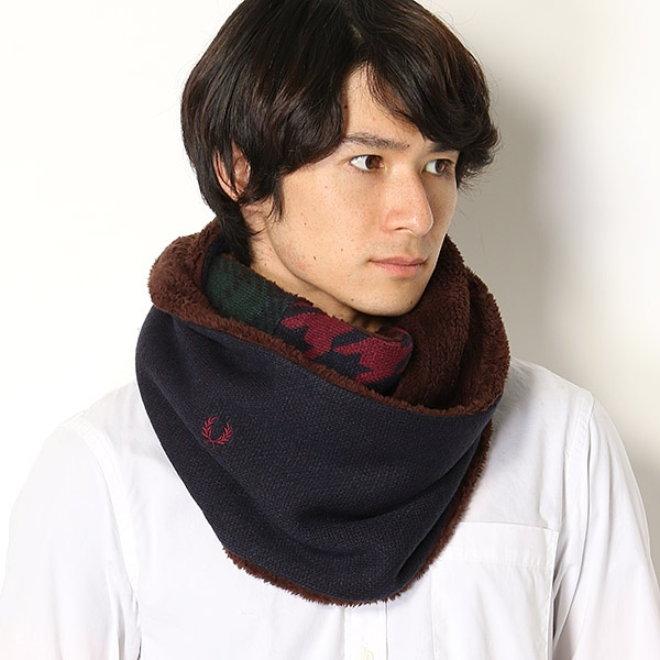 【18AW】KNIT SNOOD/フレッドペリー(雑貨)(FRED PERRY)
