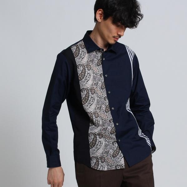 Mシャツ(パネルラインシャツ [ メンズ シャツ 切り替え ])/タケオキクチ(TAKEO KIKUCHI)