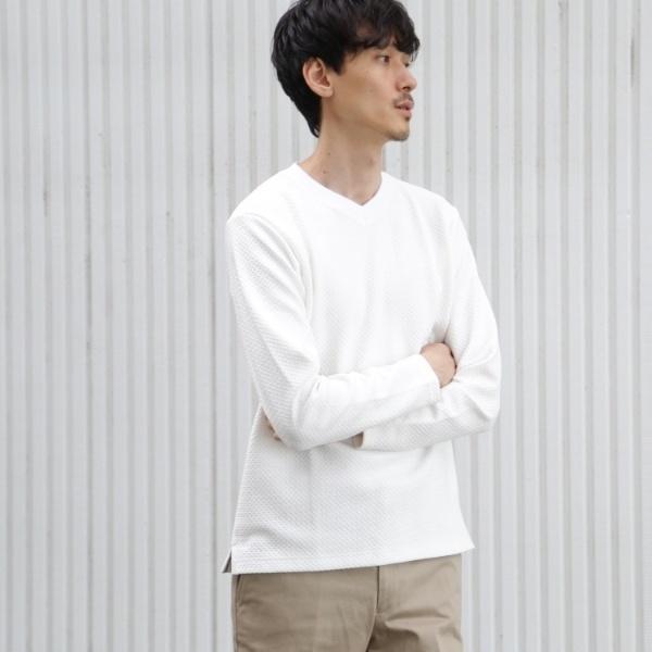 MTシャツ(Vネックカットソー[ メンズ トップス カットソー ロングTシャツ ロンT Vネック ベーシック ])/タケオキクチ(TAKEO KIKUCHI)