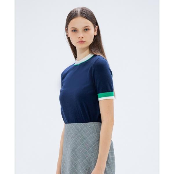 【2018AW COLLECTION】シルクウール半袖 ニット/カルバン・クライン ウィメン(Calvin Klein women)