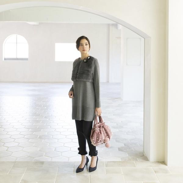 ファージレ付ジップロングカーディガン/トゥービーシック(TO BE CHIC)