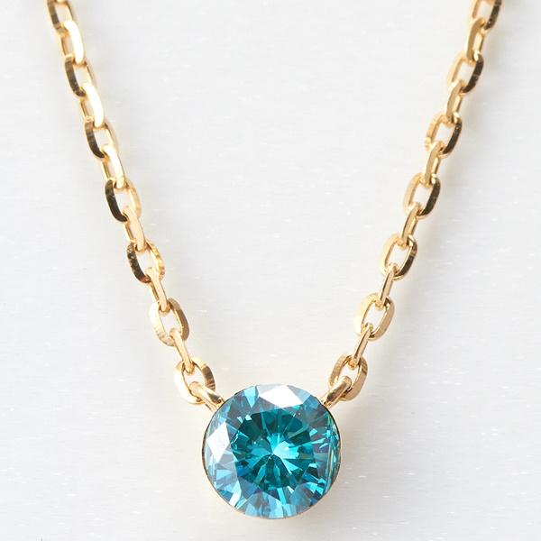 K18カラーダイヤモンドネックレス/アガット(agete)