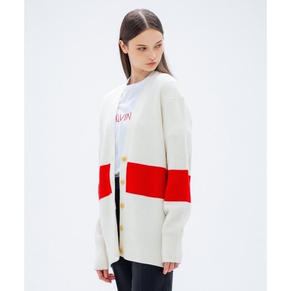 【2018AW COLLECTION】ウールポリエステル カーディガン/カルバン・クライン ウィメン(Calvin Klein women)