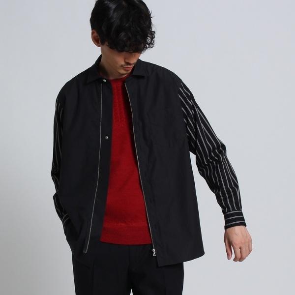 Mシャツ(ブロード×ツイルストライプシャツ[ メンズ シャツ ])/タケオキクチ(TAKEO KIKUCHI)