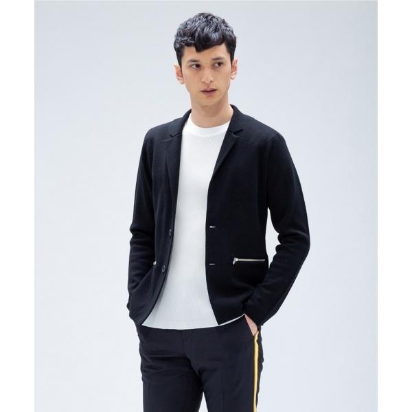 【ジャケット型】14Gウールミラノ ニット/カルバン・クライン メン(Calvin Klein men)