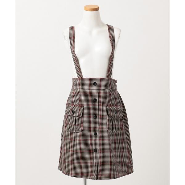 【SCHOOL】チェックサスペンダー付き スカート/組曲 キッズ(KUMIKYOKU KIDS)