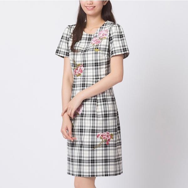 ピオニー刺繍ワンピース/ローズティアラ(大きいサイズ)(Rose Tiara)