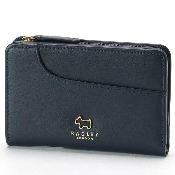 POCKETS 財布 ネイビー/ラドリー(RADLEY)