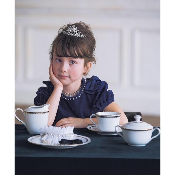 【KIDS】ベルベットパールリボン ワンピース/トッカ バンビーニ(TOCCA BAMBINI)