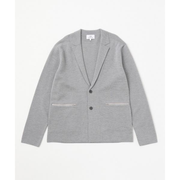 【ジャケット型】14GGウールミラノ ニット/カルバン・クライン メン(Calvin Klein men)