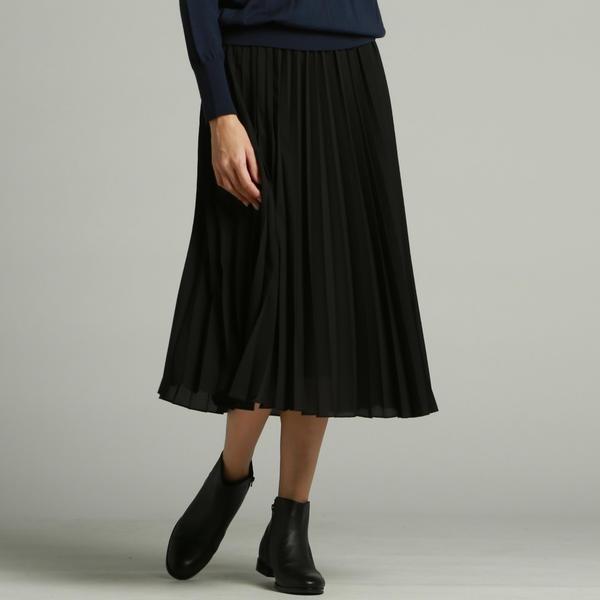 【WEB別注 BLACK Edition】クラシカルジョーゼットアコーディオンプリーツスカート/ロートレアモン(LAUTREAMONT)